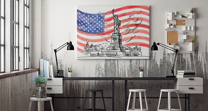 Das Bild amerikanische Flagge