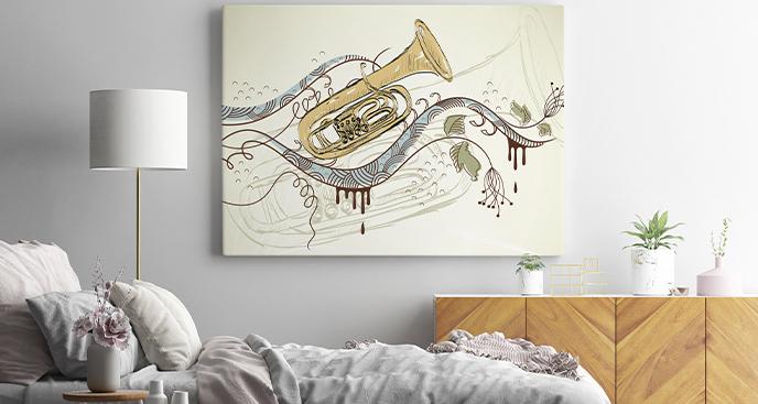 Dekoratives Bild Instrumente