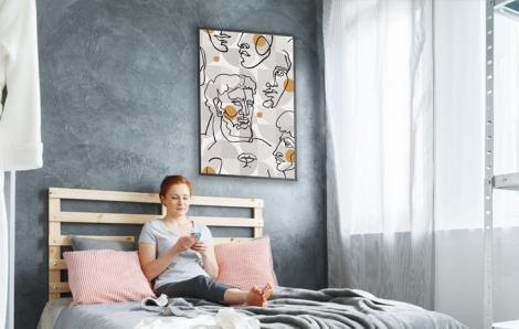 Designerplakat für Schlafzimmer