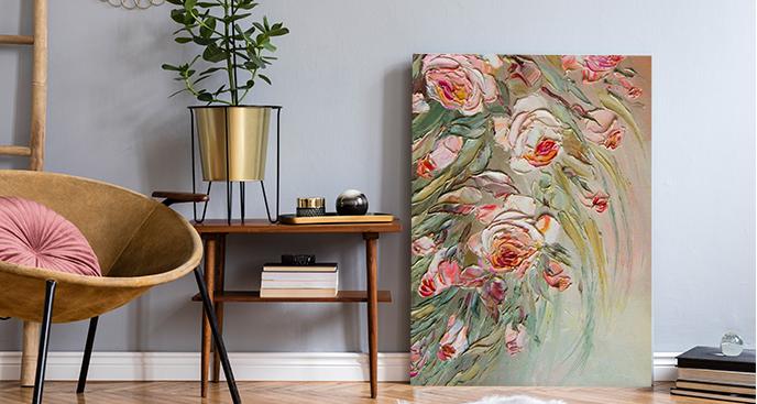 Ein auf Ölmalerei stilisiertes Gemälde