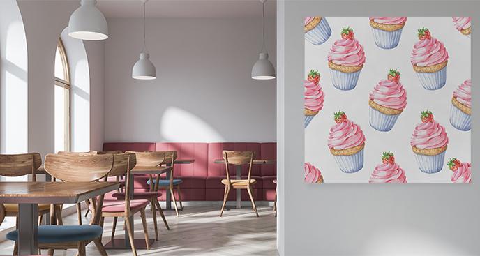 Ein Bild von einem Cupcake fürs Restaurant