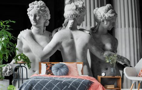 Erotische Fototapete im antiken Stil