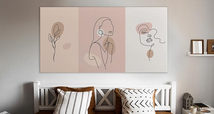 Feminines Bild fürs Schlafzimmer