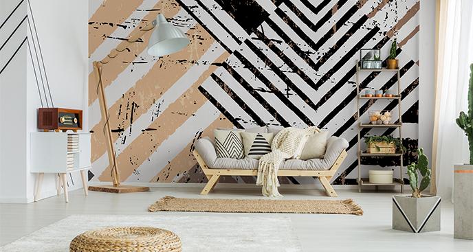 Fototapete abstraktes Muster mit Streifen