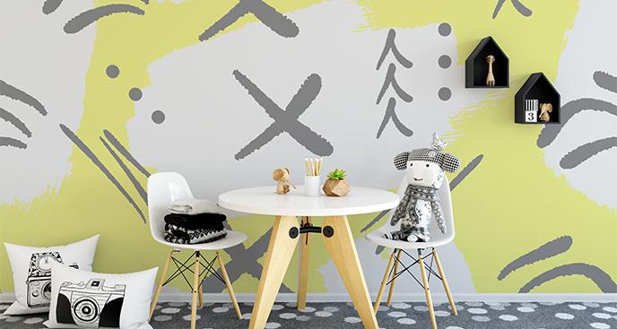 Fototapete Abstraktion fürs Kinderzimmer