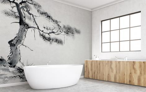 Fototapete Badezimmer Baum
