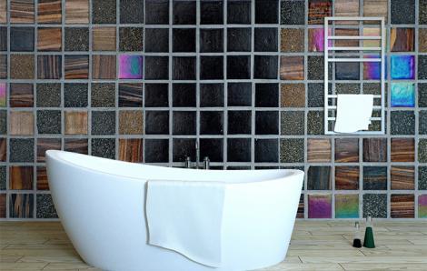 Fototapete Badezimmer Mosaik