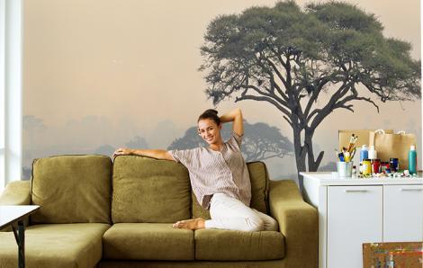 Fototapete Baum für das Wohnzimmer