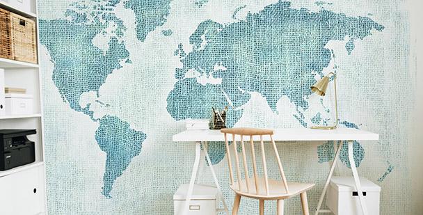 Fototapete blaue Kontinente