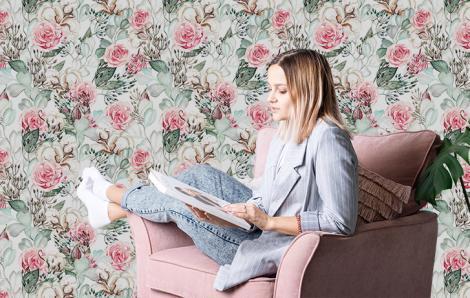 Fototapete Blumen für Schlafzimmer