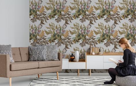 Fototapete Blumen für Wohnzimmer