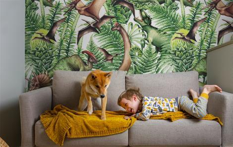 Fototapete Dinosaurier für einen Jungen