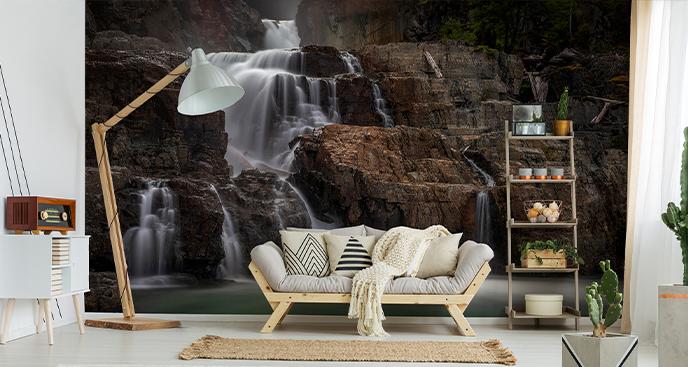 Fototapete Felswasserfall