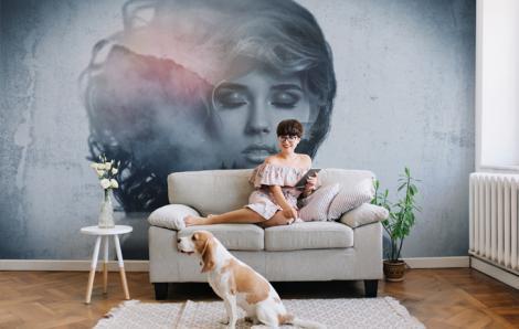 Fototapete Frau fürs Wohnzimmer