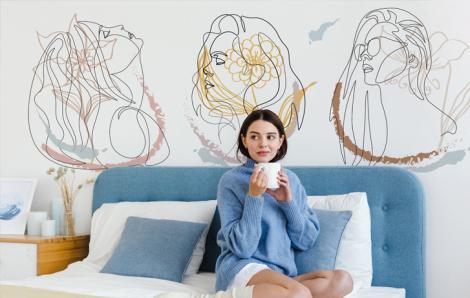Fototapete Frauen fürs Schlafzimmer
