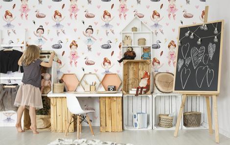 Fototapete für Mädchenzimmer Schwanensee