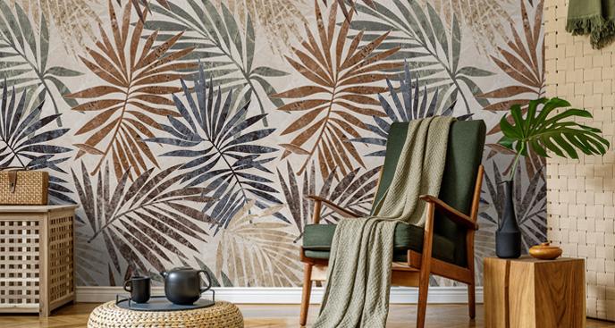 Fototapete fürs Wohnzimmer - Blätter