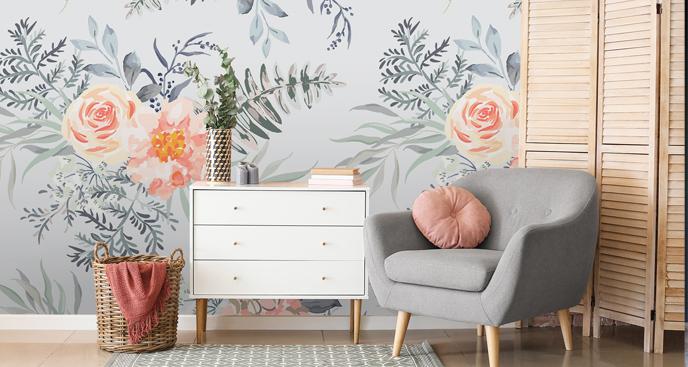 Fototapete fürs Wohnzimmer - Blumen
