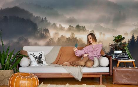 Fototapete fürs Wohnzimmer - Nebel