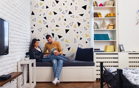 Fototapete Geometrische Muster im skandinavischen Stil