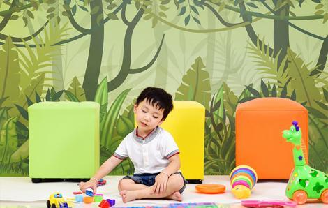 Fototapete Grüner Dschungel für Kinder