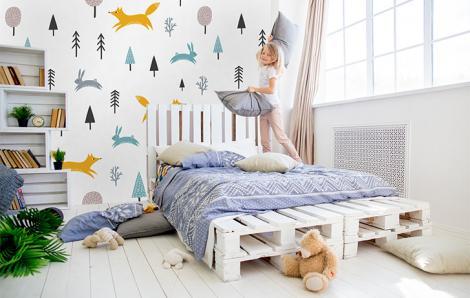 Fototapete im skandinavischen Stil für ein Kinderzimmer