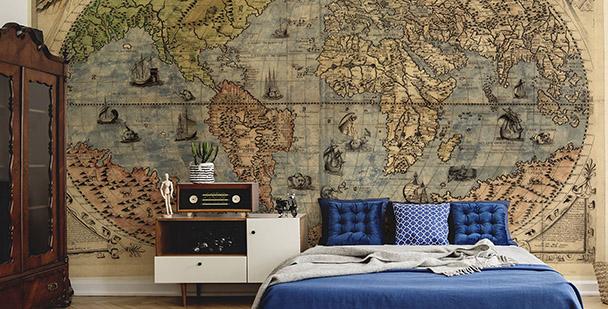 Fototapete Karte der antiken Welt