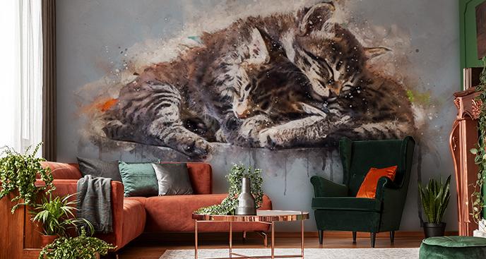 Fototapete Katzen im Schlaf