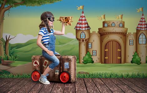 Fototapete Märchenschloss für Kinder