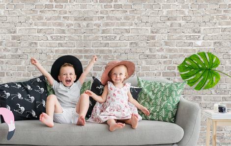 Fototapete Mauer für Wohnzimmer