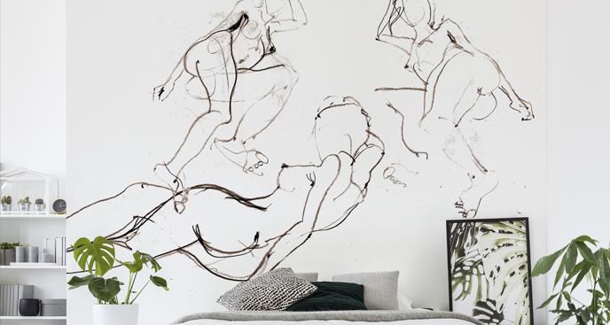 Fototapete minimalistische Skizze