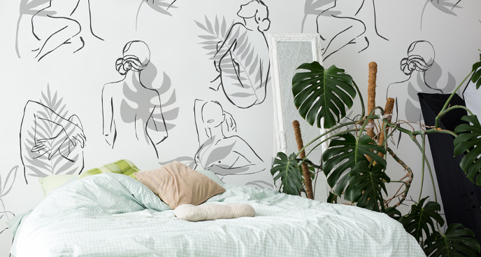 Fototapete minimalistische Vegetation