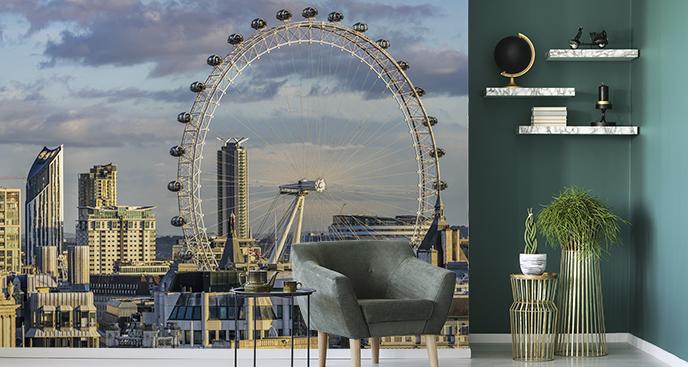 Fototapete mit Blick auf das London Eye