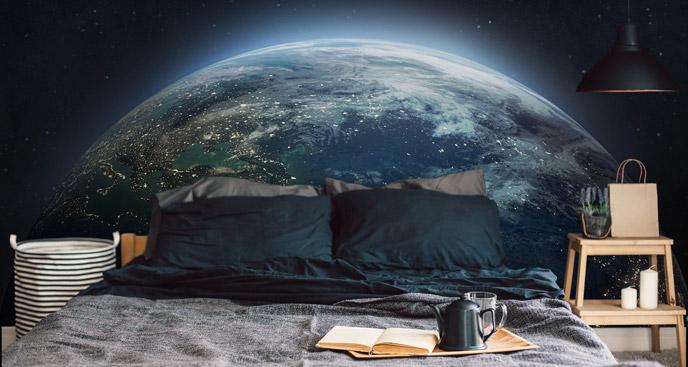 Fototapete mit Blick auf die Erde