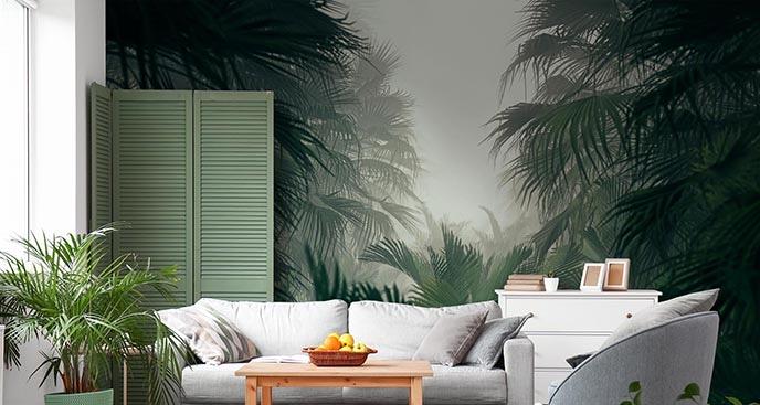 Fototapete mit Dschungel im Nebel