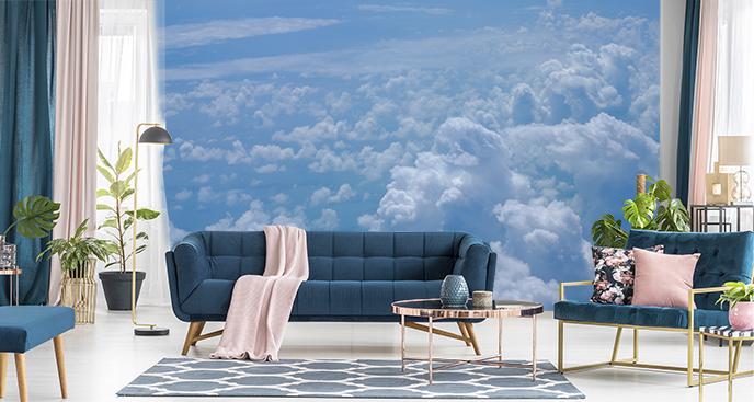 Fototapete mit Wolken fürs Wohnzimmer