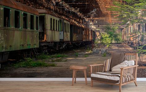 Fototapete mit Zug