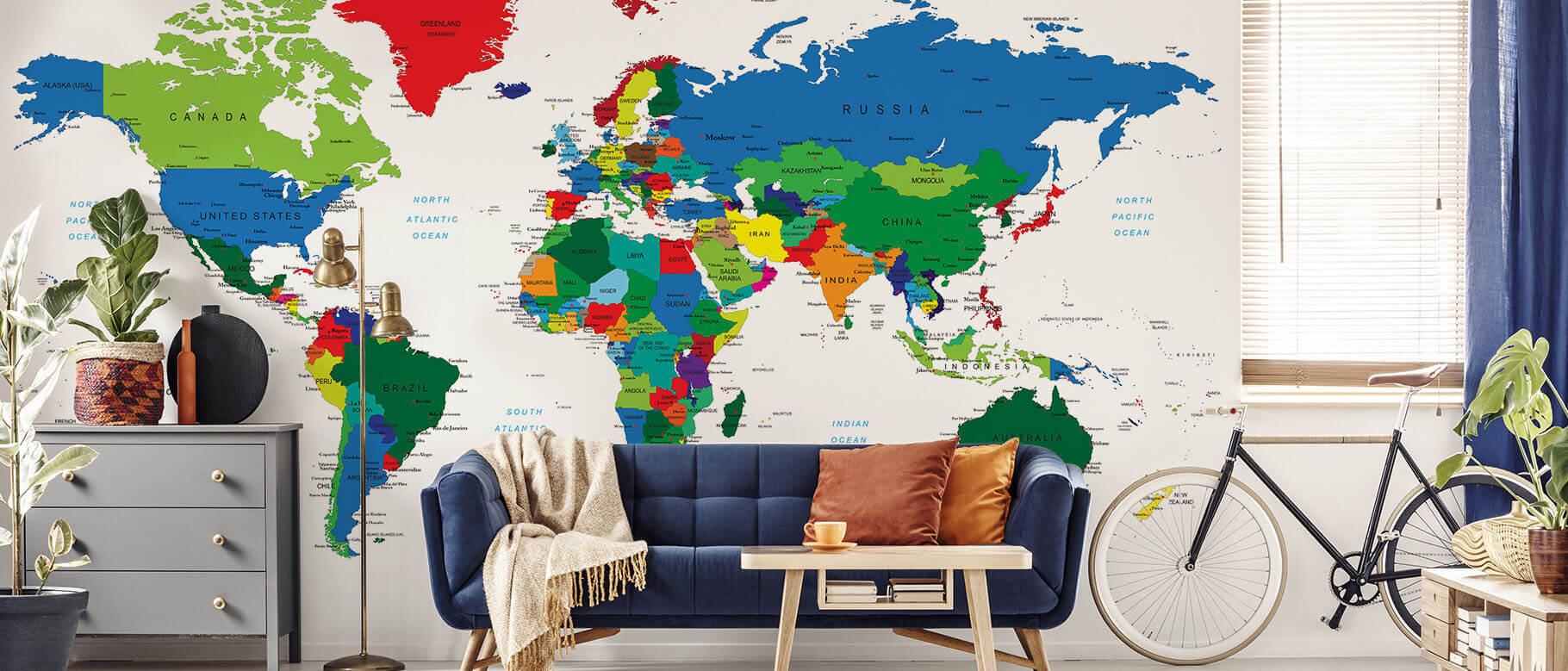 Fototapete politische Landkarte