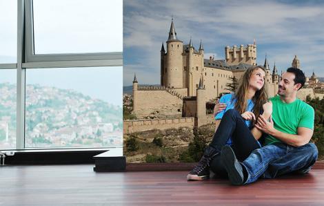 Fototapete Schloss Alcázar in Segovia