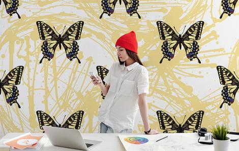 Fototapete Schmetterlinge für das Büro