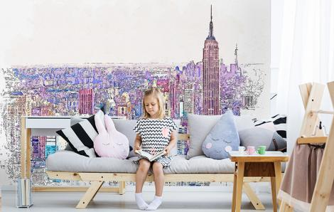 Fototapete Skyline für Wohnzimmer