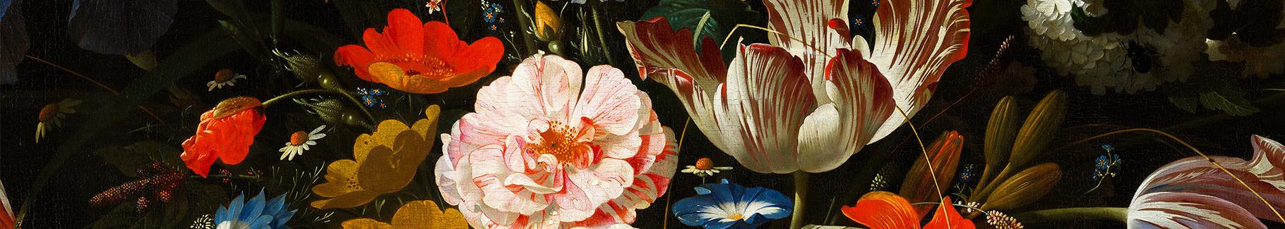 Fototapete Strauß mit bunten Blumen