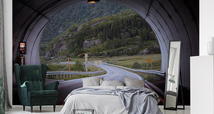 Fototapete Tunnel in Norwegen