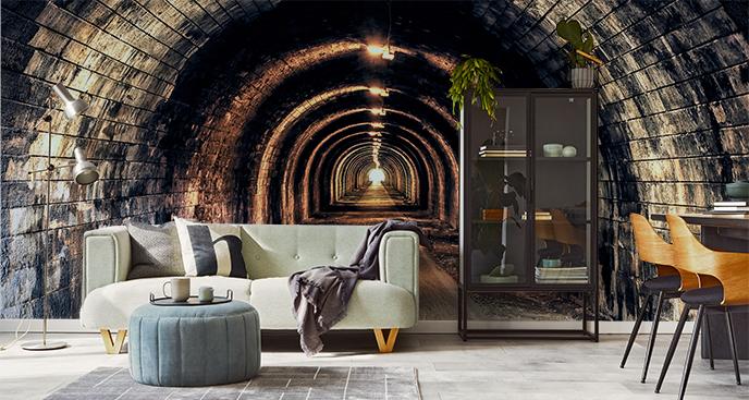 Fototapete Tunnel und Licht