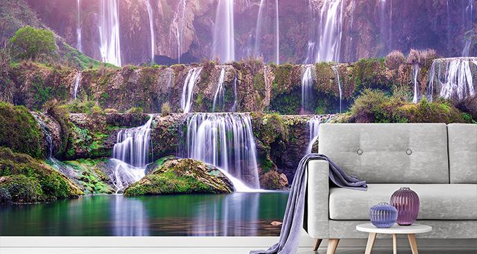 Fototapete Wasserfall für das Wohnzimmer