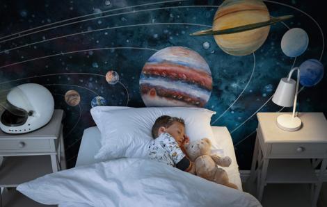 Fototapete Weltraum für ein Kind