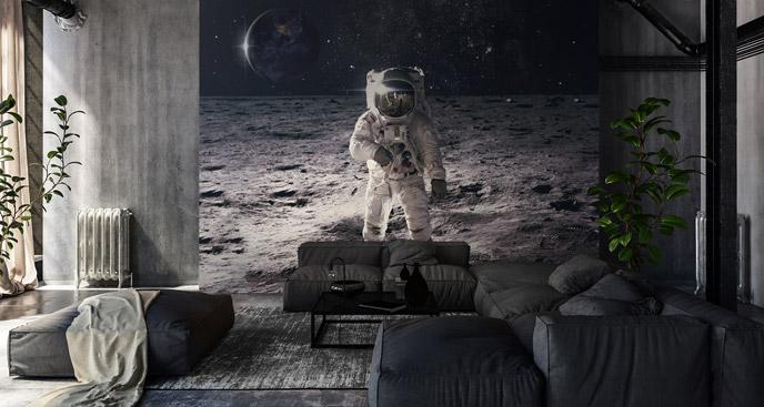 Fototapete Weltraum und ein Kosmonaut