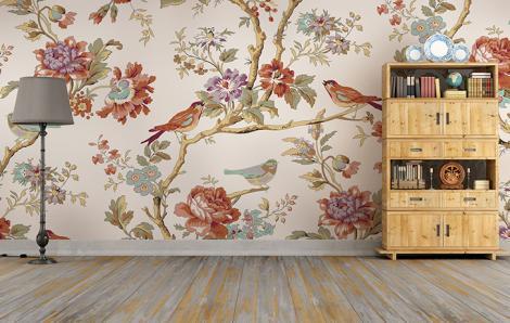 Fototapeten im klassischen Stil für das Wohnzimmer
