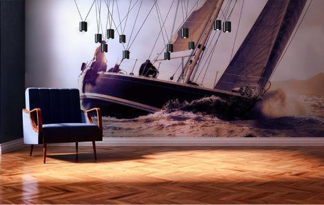 Fototapeten mit einem Segelboot ins Wohnzimmer