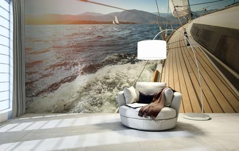 Fototapeten Segelboot auf See